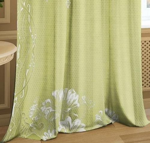 Комплект шторы и тюль Изящество олива