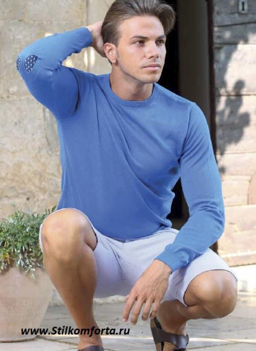 Мужской пуловер трикотаж Эно