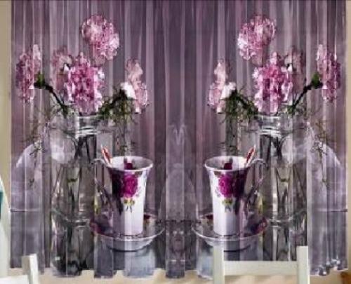 Комплект шторы и скатерть Чай