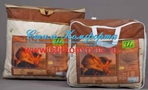 Подушки и одеяло верблюжья шерсть Сахара