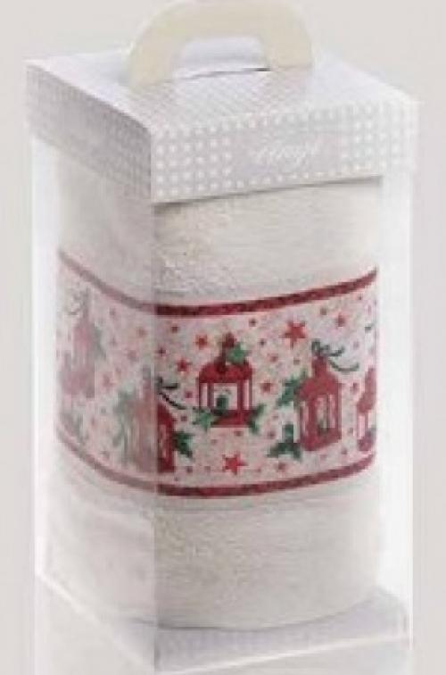 Новогодние махровые полотенца в коробке Лактери