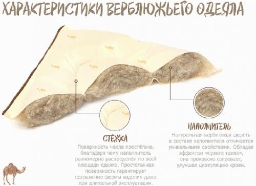 Подушки и одеяло Монгольский верблюд теплые