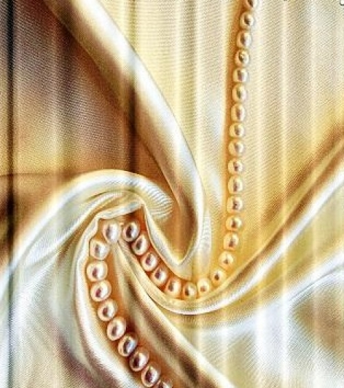 Тканевые шторы для ванной комнаты Жемчужное ожерелье