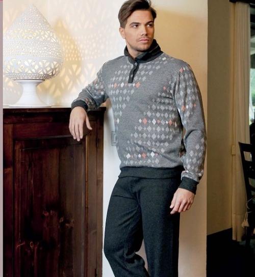 Стильный мужской домашний костюм Фаус