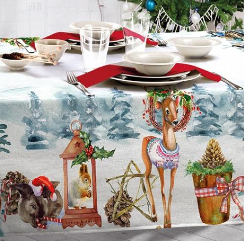 Новогодняя скатерть  Бока