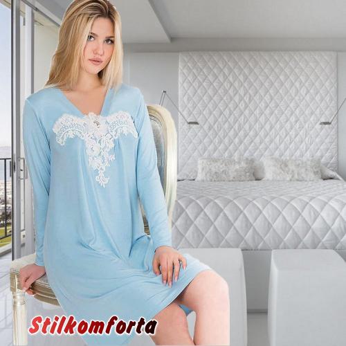 Ночная сорочка с длинным рукавом Морис