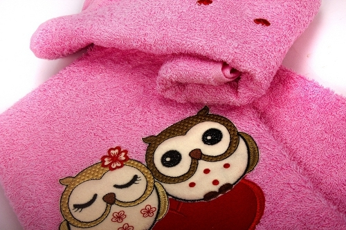 Полотенца махровые детские набор Совята