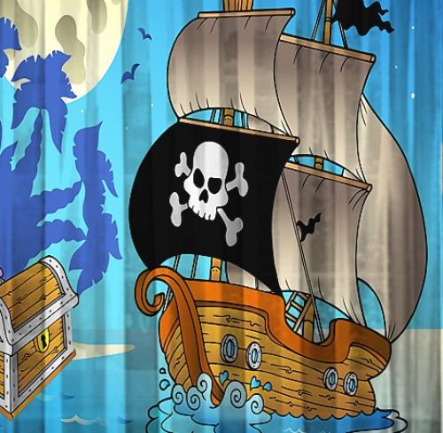 Шторы и тюль Корабль пиратов