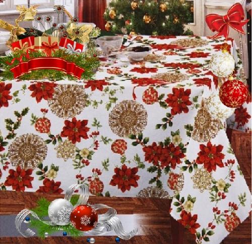 Новогодняя большая скатерть Франческа