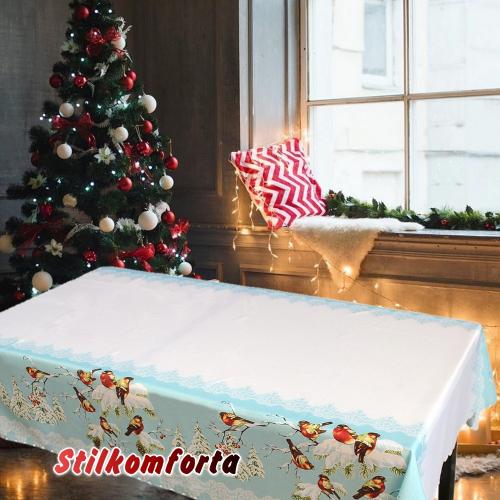 Новогодняя скатерть Зимняя сказка