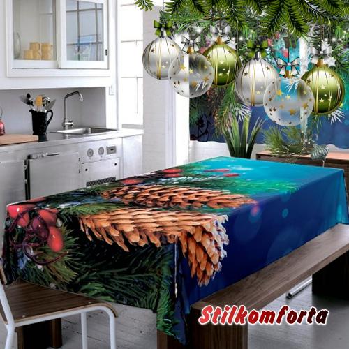 Новогодняя скатерть Шишкин лес