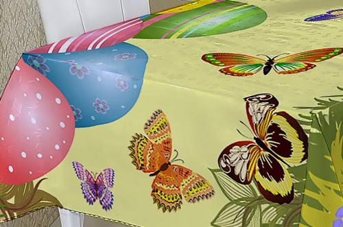 Пасхальная скатерть С бабочками
