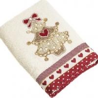 Новогодние полотенца в подарочной коробке Куори елочки