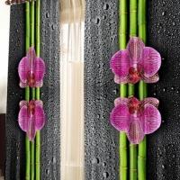 Фотошторы с печатью 3d Орхидея