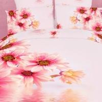Постельное белье с розовыми цветами 088
