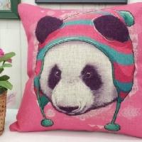 Декоративная наволочка с подушкой Розовый дружок
