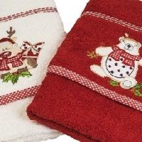 Новогодние полотенца махровые в коробке Вета-2