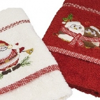 Новогодние полотенца махровые в коробке Вета-3
