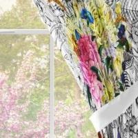 Комплект шторы и скатерть Вальс цветов