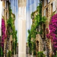 Фотошторы с печатью 3d изображений Старый город