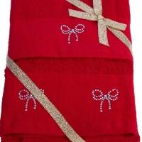 Новогодние махровые полотенца в коробке Люксория