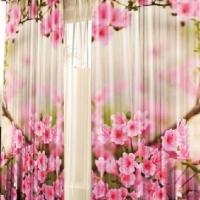 Фотошторы 3d Цветы сакуры