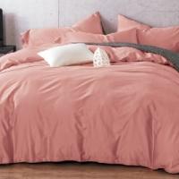 Розовое постельное белье сатин С-09