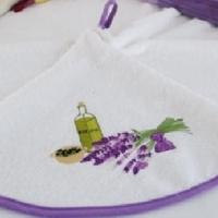 Махровое круглое кухонное полотенце с петельной Жерела