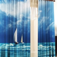 Фотошторы с печатью 3d Океан