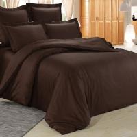 Темно коричневое постельное белье сатин С-20