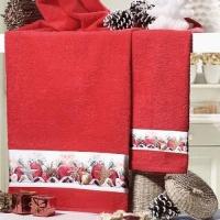 Новогодние полотенца махровые в коробке Стефания