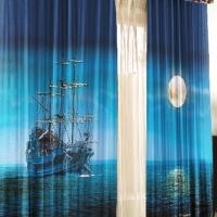 Шторы и тюль в детскую комнату Корабль