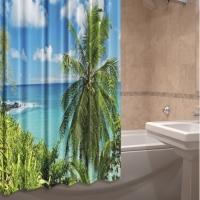 Штора для ванной тканевая Райский берег