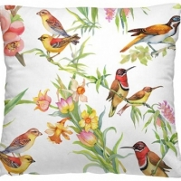 Декоративная диванная подушка Птички