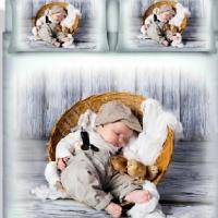 Дизайнерский комплект постельного белья Малыш в корзинке А 006n
