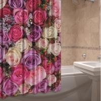 Текстильные шторки для ванной комнаты Ноктюрн