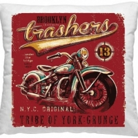 Декоративная подушка Мотоцикл