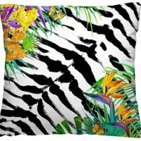 Декоративная подушка Зебра с цветами