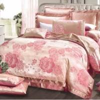 Свадебное постельное белье жаккард с вышивкой V121