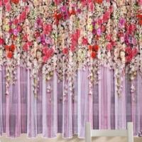 Комплект шторы и скатерть Розовый сад