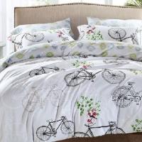 Детское постельное белье сатин Велосипеды