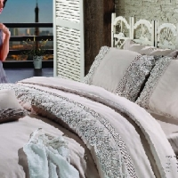 Свадебное постельное белье евро Гларина беж