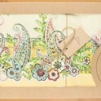 Дизайнерская скатерть с пропиткой Волшебные цветы