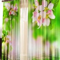 Фотошторы с печатью 3d Яблоневый цвет