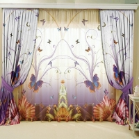 Тюль 3D / фототюль Полет бабочки