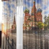 Шторы 3д в комнату Города мира Москва