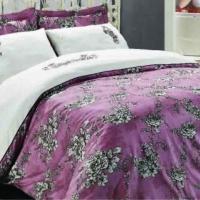 Элитное постельное белье сатин Росс пыльная роза