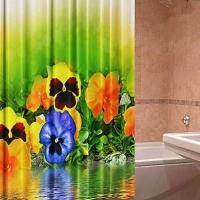 Фото штора для ванной тканевая Виола