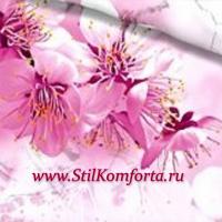 Постельное белье с розовыми цветами 3D 109