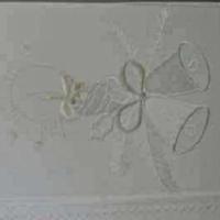 Новогодняя скатерть белая с вышивкой Колокольчики